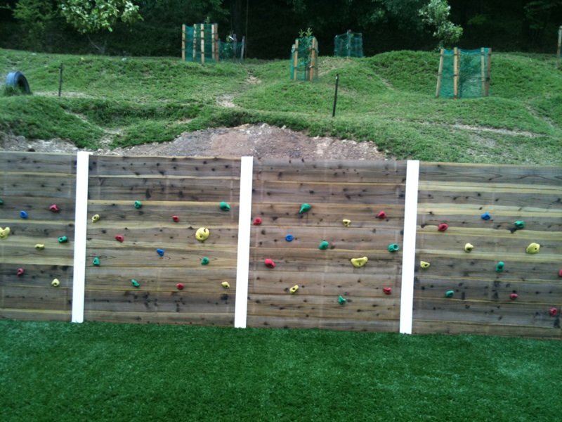 園舎裏の工事終了!